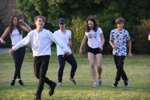 Die Gewinner beim Tanzen